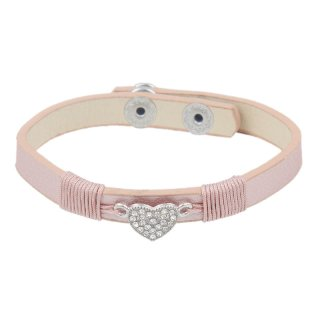 Fashionarmband Herz, rose