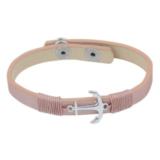Fashionarmband Anker, rose
